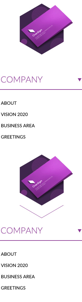 Company 1.About 2.Vision2020 3.Business area 4.Greeting